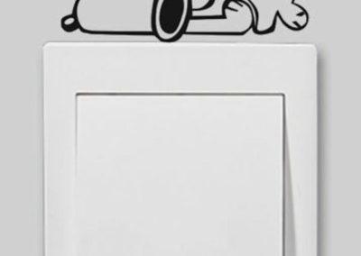 Παιδικό αυτοκόλλητο Snoopy