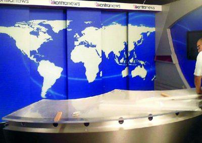 Κατασκευή φόντου τηλεοπτικού δελτίου ειδήσεων
