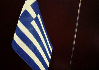 Σημαιάκι επιτραπέζιο με μεταλλική βάση