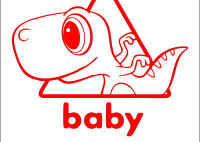 Dino baby on board