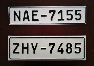 Πινακίδες αυτοκινήτου 37x10 & 37x12