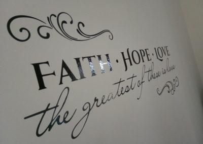 Faith Hope Love Αυτοκόλλητο