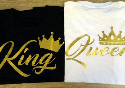 Μπλουζακια για ζευγάρι με χρυσό τύπωμα