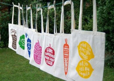 Οικολογικές τσάντες με τύπωμα