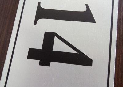 Νούμερο οδού αλουμινίου