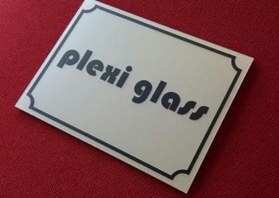 Plexiglass δείγμα οδού