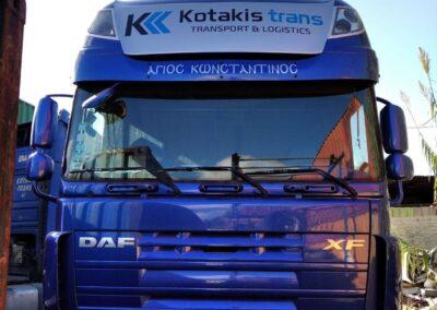 Αυτοκόλλητα σε φορτηγό kotakis trans