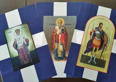 Εκκλησιαστικές σημαίες με Αγίους ΙΙ