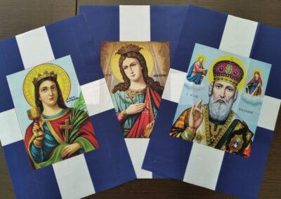Εκκλησιαστικές σημαίες με Αγίους